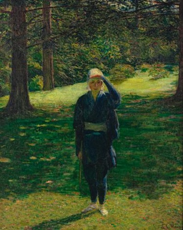 the golfer by lilla cabot perry