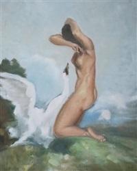 leda et le cygne by marcel dyf