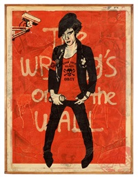 the writing on the wall by shepard fairey