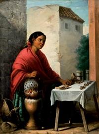 castañera junto a la giralda by antonio cabral bejarano