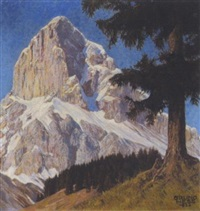 kalbling von süden (gesäuse) ennstal by bruno hess