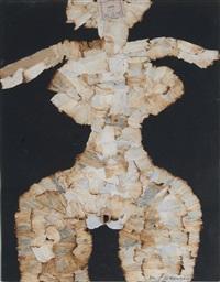 collage aus gebrauchtem zigarettenpapier by al (alfred earl) hansen