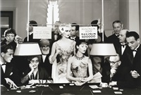 sunny harnett and alla, evening dresses by balmain, casino, le touquet, august by richard avedon