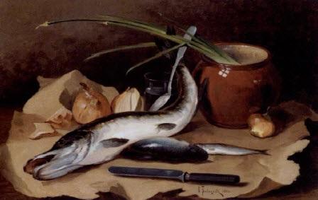 still life of fish by valerian vitalievich babadin