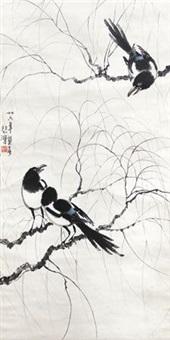 喜鹊 by xu beihong
