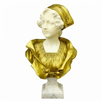 a bust of lady by gustave van vaerenbergh