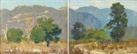 southern california landscape (diptych) by ferdinand kaufmann