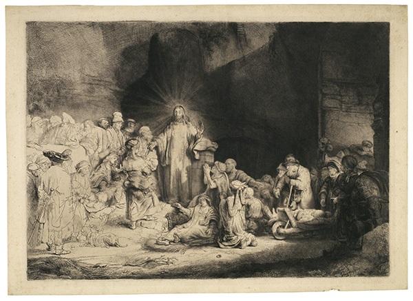 christus heilt die kranken genannt das hundertguldenblatt by rembrandt van rijn