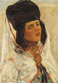 femme ouled nails by alphonse léon germain-thill