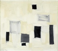 abstract with black and grey rectangles by olga albizu