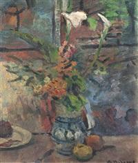florero con frutas by alceu ribeiro