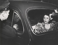 cooler; the human cop; accident victim (shock); and mending, coney island (4 works) by weegee