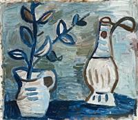 jug and chianti bottle by john anthony (tony) tuckson