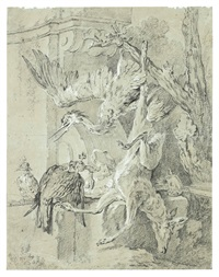 return from the hunt with a dead roe by jean-baptiste oudry