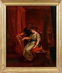 othello et desdemone by eugène delacroix