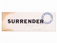 surrender ii by joseph beuys