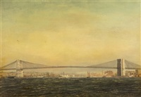 vue du pont de brooklyn à new york by antonio jacobsen