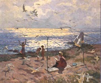 pres de la mer d'azov by yuri konovalov