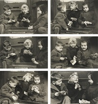 the card players (set of 6) by ruth orkin