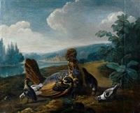 volatiles dans un paysage by jean-baptiste oudry