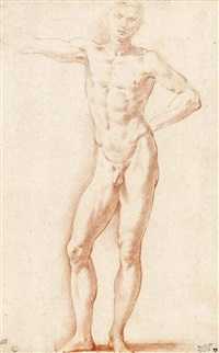a male nude by parmigianino