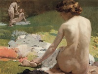 baigneuses by franz van holder