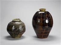 a large globular vase by phil rogers