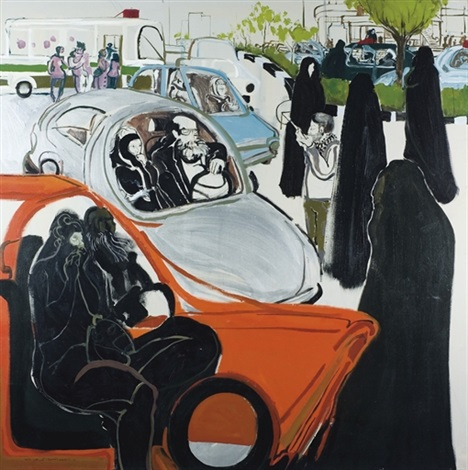 women in cars by rokni haerizadeh