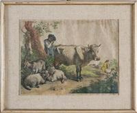 due pastori con armenti by francesco londonio
