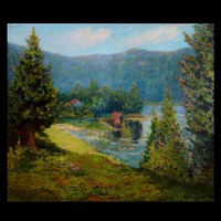 house on the lake's edge by george gardner symons