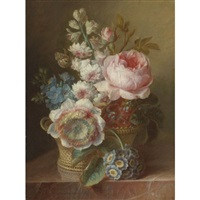 still life with flowers by cornelis van spaendonck