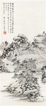 寒山禅钟 (landscape) by gu fei
