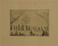 bijeenkomst in een park by james ensor