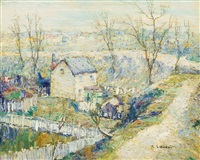 squatter's huts, harlem river by ernest lawson