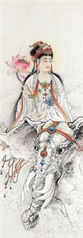 普贤菩萨 (samantabhadra bodhisattva) by li tang