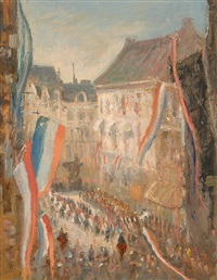 queen's day on the noordeinde in the hague by jacobus cornelis wyand cossaar