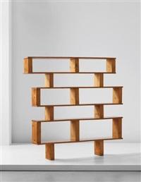 bibliothèque, model no. 12, designed for 'l'equipement de la maison' series, grenoble by charlotte perriand & pierre jeanneret
