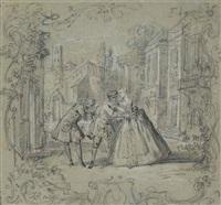 scène de l'ecole des maris de molière by jean-baptiste oudry