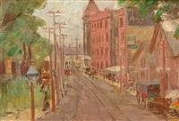 american street scene by pauline palmer