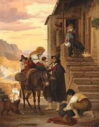 en romersk bondefamilie, som kommer hjem by peter (johann p.) raadsig