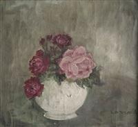 vase de roses by pierre laprade