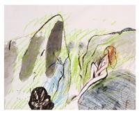 muchacha en una roca by roger von gunten