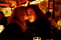lynette & donna at marion's restaurant. nyc. 1991. by nan goldin