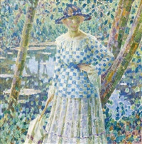 girl in the garden by louis ritman