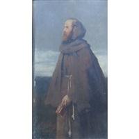 portrait of moritz hartmann as pfaff mauritius (the priest mauritius) by ferdinand heilbuth