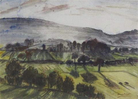 on the malvern hills by dame laura knight