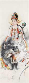 文殊菩萨 (manjusri bodhisattva) by li tang