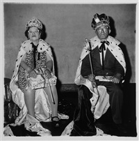 the king and queen of a senior citizens dance, new york (from a box of ten photographs) by diane arbus