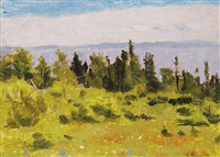 untitled - view of the bay by william goodridge roberts