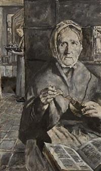gammel kone by christian krohg